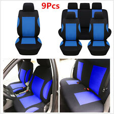 Fashion 9x Polyester Car Seat Covers Full Set For Car Front Rear Seats Headrests