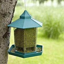Plastic Waterproof Hanging Bird Feeder Villa Outdoor Feeding Garden Decor UK