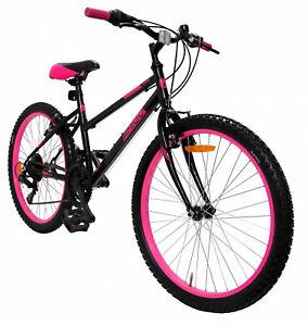 26 Zoll Mountainbike Kinderfahrrad Jugendfahrrad Damenfahrrad Mädchen Schwarz