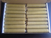 16 PCS 100% BEESWAX  HAND ROLLED CANDLES - length 10cm from beekeeper