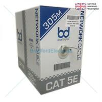 305M CAT5E 305m Network Data Ethernet Cable Indoor CCA Grey