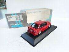 MINICHAMPS 1:43  BMW M3 E30 STREET VERSION RED RARE HUBS NEW OVP