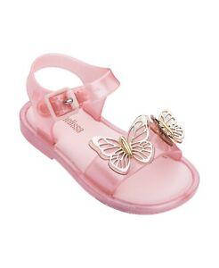 Mini Melissa Toddler Girls Mar Fly Sandal - Baby Pink