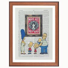 The Simpsons vs OBEY Shepard Fairey-Make Art... - Dictionnaire page Art Imprimé