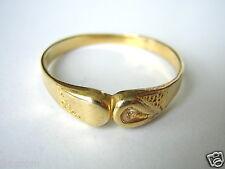 Echter Diamant Ring 925 Silber vergoldet Simon Lang Antik 21,3 mm #142