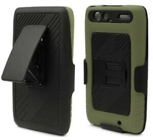 OD ARMY GREEN CASE STAND BELT CLIP HOLSTER FOR MOTOROLA DROID RAZR MAXX