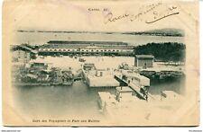 CPA - Carte postale - FRANCE-Sete (Cette) -Gare de Voyageurs et Parc aux Huitres