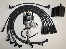 FORD BB 351C/M-400-429-460 BLACK Small HEI Distributor, Coil & SPARK PLUG WIRES