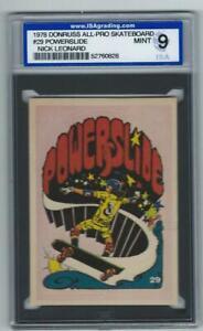 1978 Donruss All-Pro Skateboard #29 Powerslide Nick Leonard Graded Card ISA 9