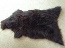 GENUINE SHEEPSKIN RUG - MIX OF BROWNS - EXTRALARGE