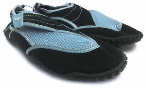 Fresko Women's Cross Strap-Up Aqua Water Shoes, Blue, 10 Medium US