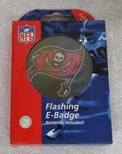 TAMPA BAY BUCCANNEERS NFL FLASHING E BADGE LANYARD BATTERIES BRAND NEW W/BOX A-2