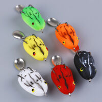 1PC Soft Frog Fishing Lure Double Hooks water Ray Frog Artificial Soft BaitA_ex