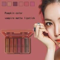 6pcs/set Nude MATTE Lipstick Waterproof Long Lasting Velvet Kit new Lip U6J8
