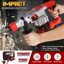 2200W Demolition Rotary Jack Hammer Impact Drill Electric Concrete Breaker