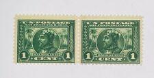 Travelstamps: 1913 US Stamps Scott #397, Balboa, mint, og, MNH Pair, 1cent