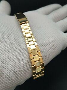 "Bracelet/Bracelet Watch Gold Plated Type Rolex-Omega 12MM "" New Old Stock 1970 """