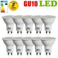 10X Ampoule LED Ampoule Spotlight Réflecteur Blanc Chaud Lampe Dimmable GU10 6W