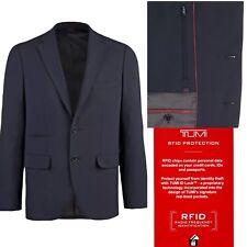Tumi Men's Classic Travel Blazer Packable Wrinkle Free Navy Blue Sport Coat RFID