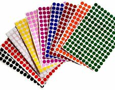 Dots Labels Circular Rounded 3/8 Inch Stickers Colored Dot Label 3080 Pack