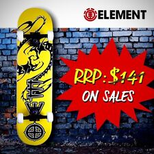 """Element Complete Skateboard - 31"""" Canadian Maple Ply, Dragon [Storm Yellow]"""