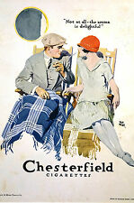 Chesterfield Cigarettes LIGGETT MYERS TOBACCO Company - 1922 Advertising Matted