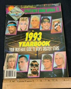 1993 WORLD CHAMPIONSHIP WRESTLING WCW YEARBOOK INCLUDES 18 CARDS IN SHEETS M4