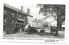 SOMERSET - OLD MINEHEAD, PLUME of FEATHERS & TOWN CENTRE Collectorcard Postcard