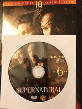 Supernatural - Season 10, Disc 6 REPLACEMENT DISC (not full season)