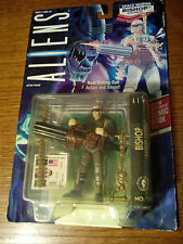 ALIENS SPACE MARINE BISHOP ANDROID W/REAL GATLING GUN ACTION AND SOUND 1992 NIP