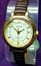 SERVICED~Tissot SEASTAR Swiss Quartz~Gold Plate Womens Watch-New Battery & Strap