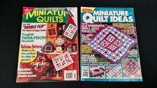 2 MINIATURE QUILT Magazines quilting patterns ideas 1998
