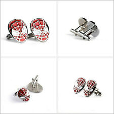 New Marvel Comics Spiderman Symbol Retro Logo Symbol Cufflinks Suit Gift Bag