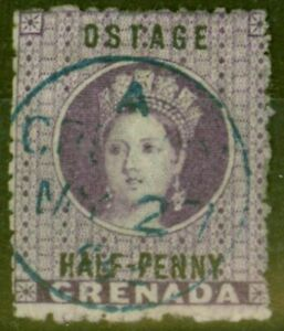 Grenada 1881 1/2d Dp Mauve SG21c OSTAGE Error Fine Used CDS