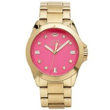 "Juicy Couture Women's "" Stella "" Hot Pink Gold Tone Watch 1901108"