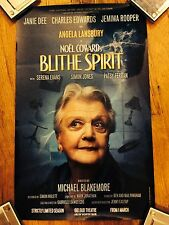 BLITHE SPIRIT Window Card London ANGELA LANSBURY Charles Edwards (Downton Abbey)