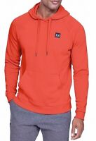 Under Armour Mens Hoodie Red Size 2XL Pullover ColdGear Fleece Logo $45 #032