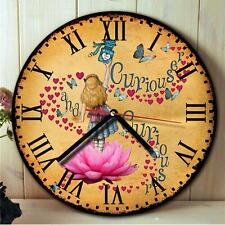 Alice in Wonderland Mad Hatter Kitchen Round Hanging Wall Clock Gift NRC01