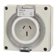 3 Pin 15 Amp Female Socket Outlet Ip66 - Single Phase