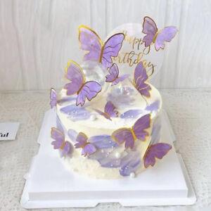 Paper Butterfly Cake Topper Birthday Wedding Dessert Baby Shower Party Decor.。