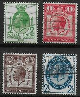 SG434/7-1929 PUC Low Values Set Of 4. FU With Fresh Colours & Full Perfs.Ref.115