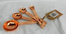 Set of Four Copper Measuring Spoons - BNIB