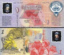 KUWAIT 1 DINAR 1993 UNC POLYMER COMMEMORATIVE P CS1