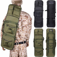 "33"" Tactical Heavy Duty Rifle Gun Bag Backpack with Pistol Storage"
