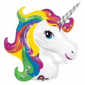 Unicorn  JUMBO  ANAGRAM  Foil Balloon   Helium   Girls Rainbow Birthday Party
