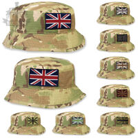 MULTICAM / MTP TACTICAL SPECIAL FORCES BUSH HAT WITH UNION FLAG / JACK PATCH