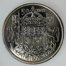 CANADA 2021 50 CENT 100th ANNIVERSARY OF COAT OF ARMS LIMITED EDITION COIN