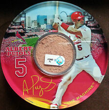 Albert Pujols St. Louis Cardinals Authentic Busch Stadium Dirt Set of 4 Coasters
