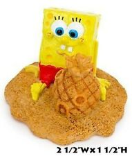 Spongebob with Sand Castle Pineapple Home Aquarium Ornament - SBR52 - Penn Plax