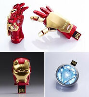 Iron Man Hand Model USB 2.0 Flash Memory pen Drive Stick 4GB 8GB 16GB 32GB 32G